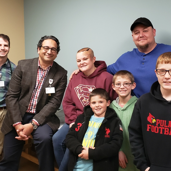 Lauren Warden and her family with Dr. Janjua_2