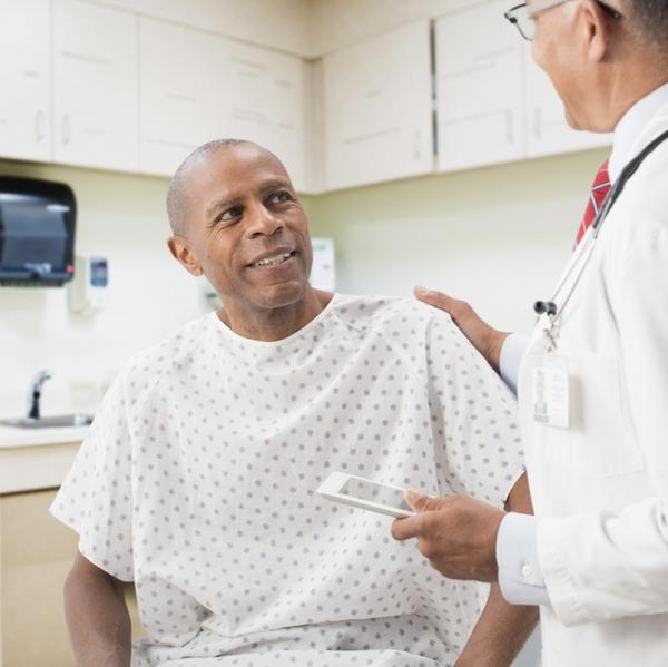 black patient male
