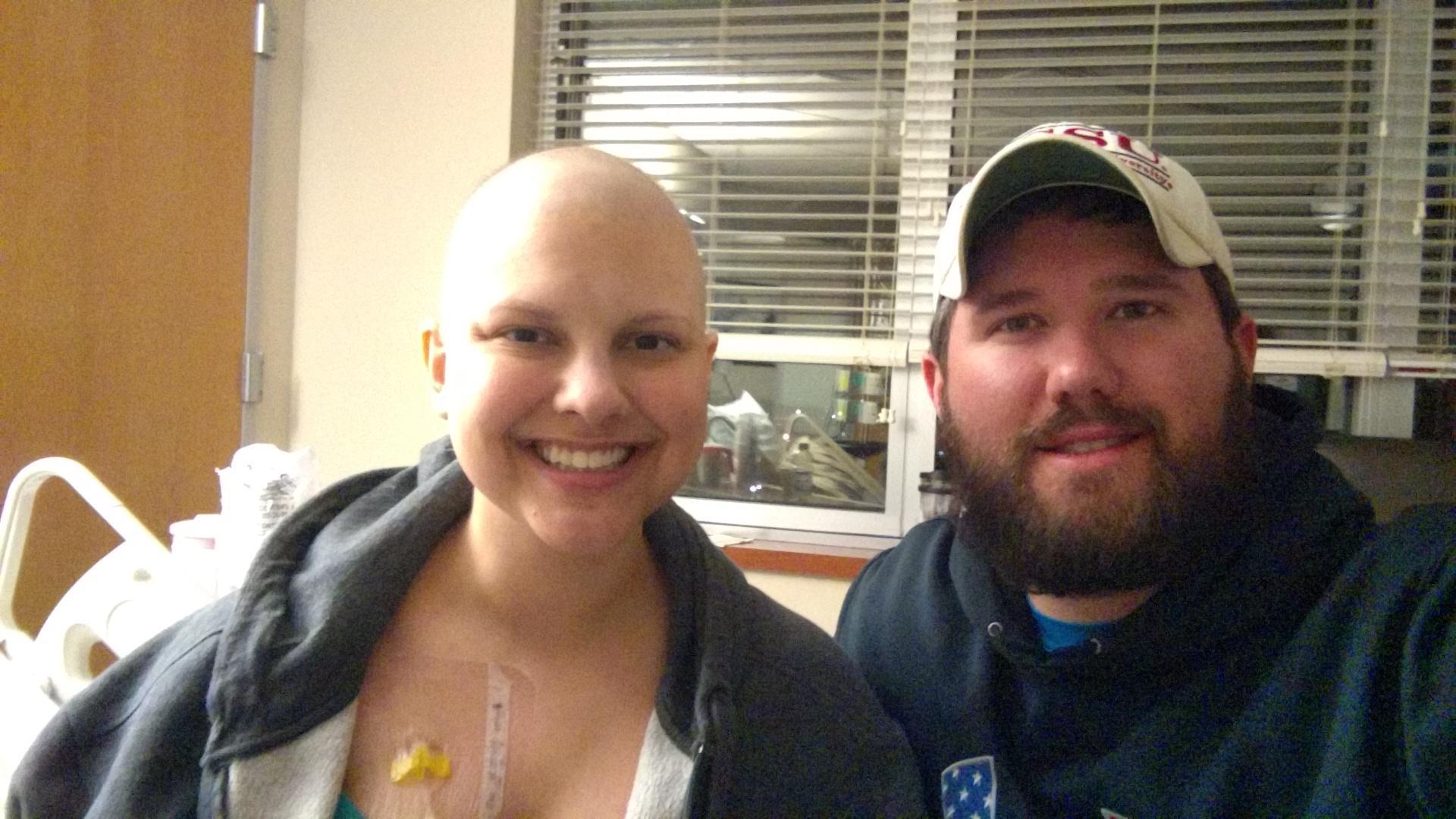 Patient Katie Warren is pictured with her husband, Wil.