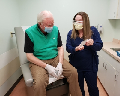 COVID-19 vaccine administered to those 65 and older