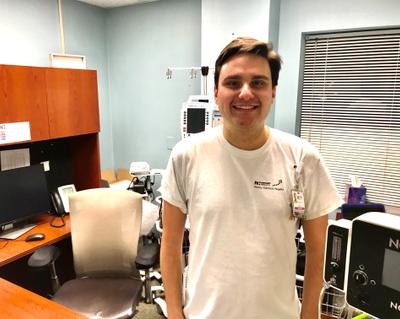 Respiratory therapist Travis Furr