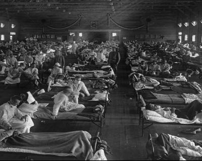 Kansas Spanish flu emergency hospital