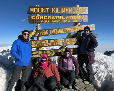Patient and her doctor make 'cancer-crushing' climb up Mount Kilimanjaro