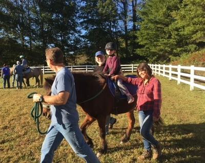 Gabe on horseback