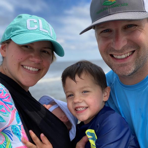 Bush family at the beach