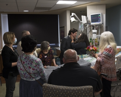 Hospital wedding provides a chance to say 'goodbye'