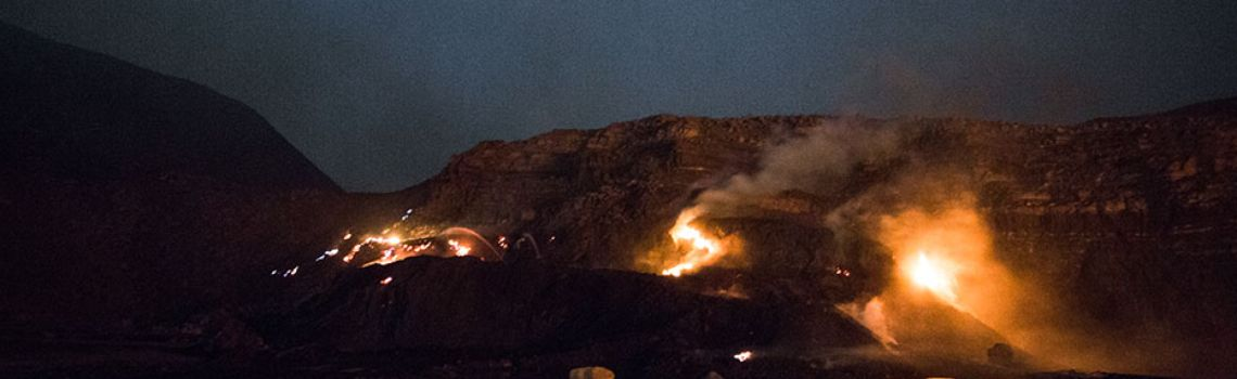 Fire threat on the rise at mine sites