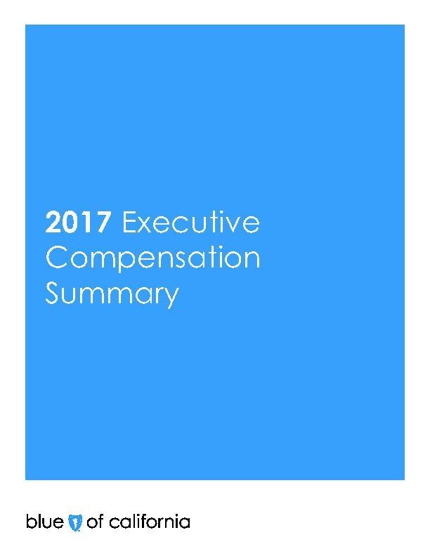 2017 Executive Compensation Summary