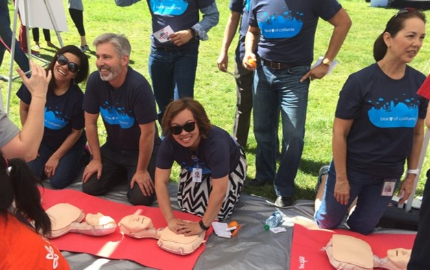Blue Shield celebrates American Heart Association's National Walking Day by sharing with the public about heart health and CPR