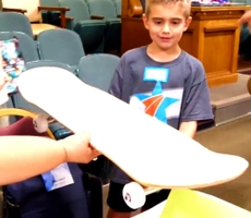 Video: Kids of Active-Duty Service Members Get Skateboards From Blue Shield of California Veterans Group