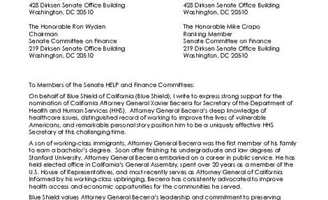 Blue Shield of California Becerra Letter of Support Feb. 22_FINAL
