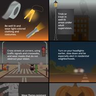 Halloween Trick or Treat Safety Infographics