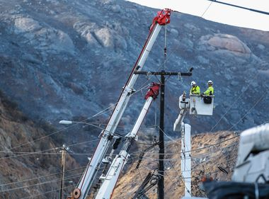 SCE Crews Begin Making Fire Repairs