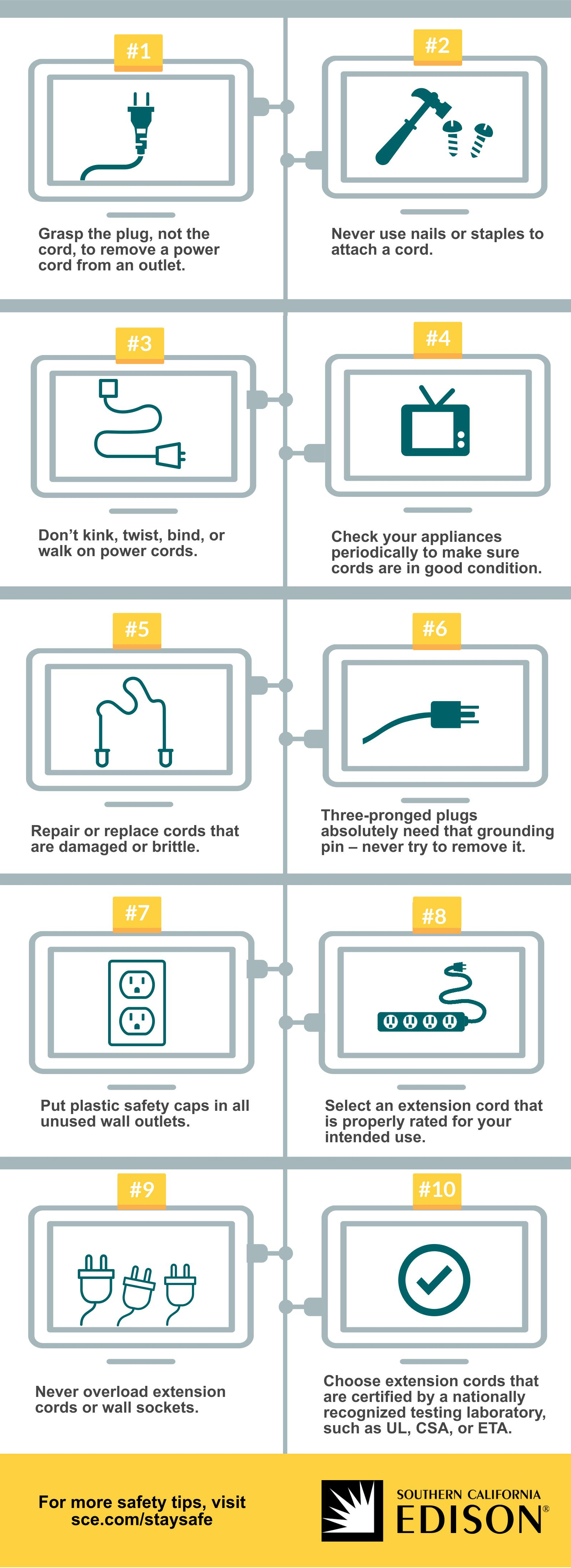 Plug and Cord Safety Tips Infographic