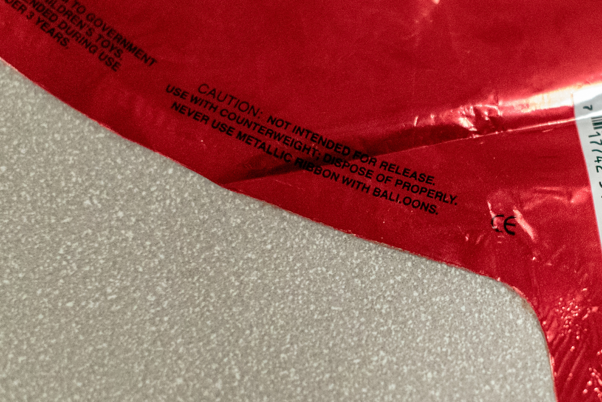 "The new law requires warnings on metallic balloons made by in-state manufacturers like, ""CAUTION: NOT INTENDED FOR RELEASE. USE WITH COUNTERWEIGHT; DISPOSE OF PROPERLY. NEVER USE METALLIC RIBBON WITH BALLOONS."""