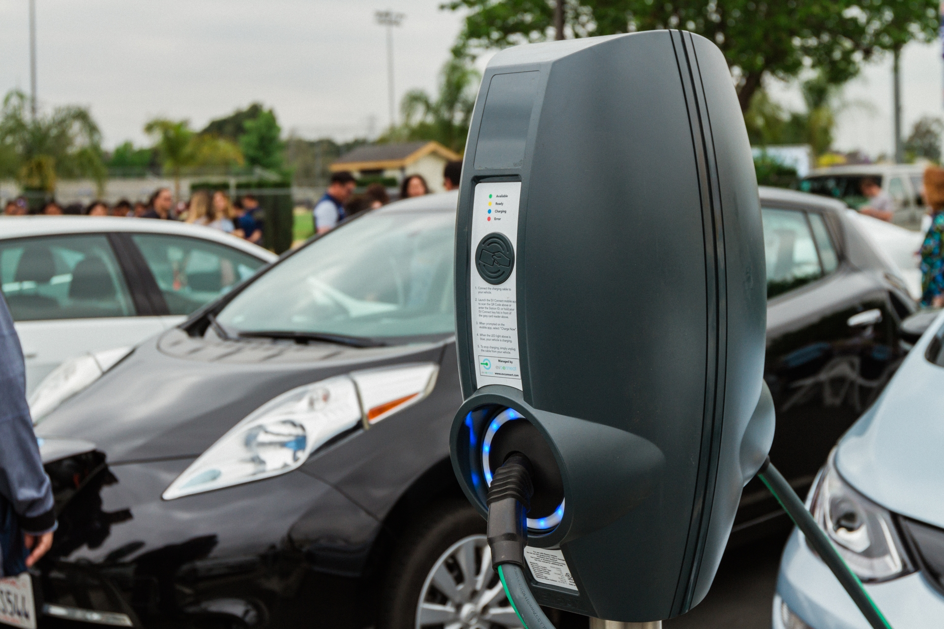 Charging stations have been installed at South El Monte High School through SCE's Charge Ready program.