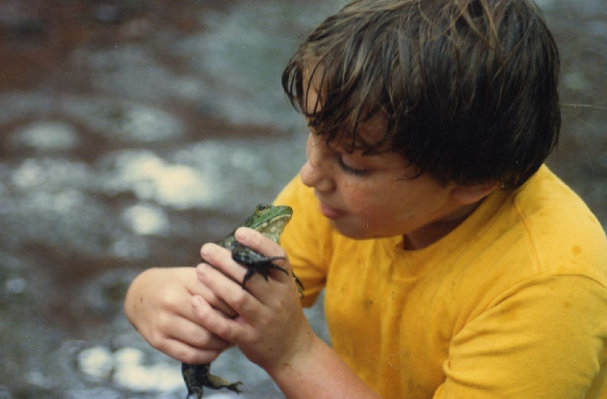Herpetologist Jack Goldfarb loved to play with bull frogs as a kid.