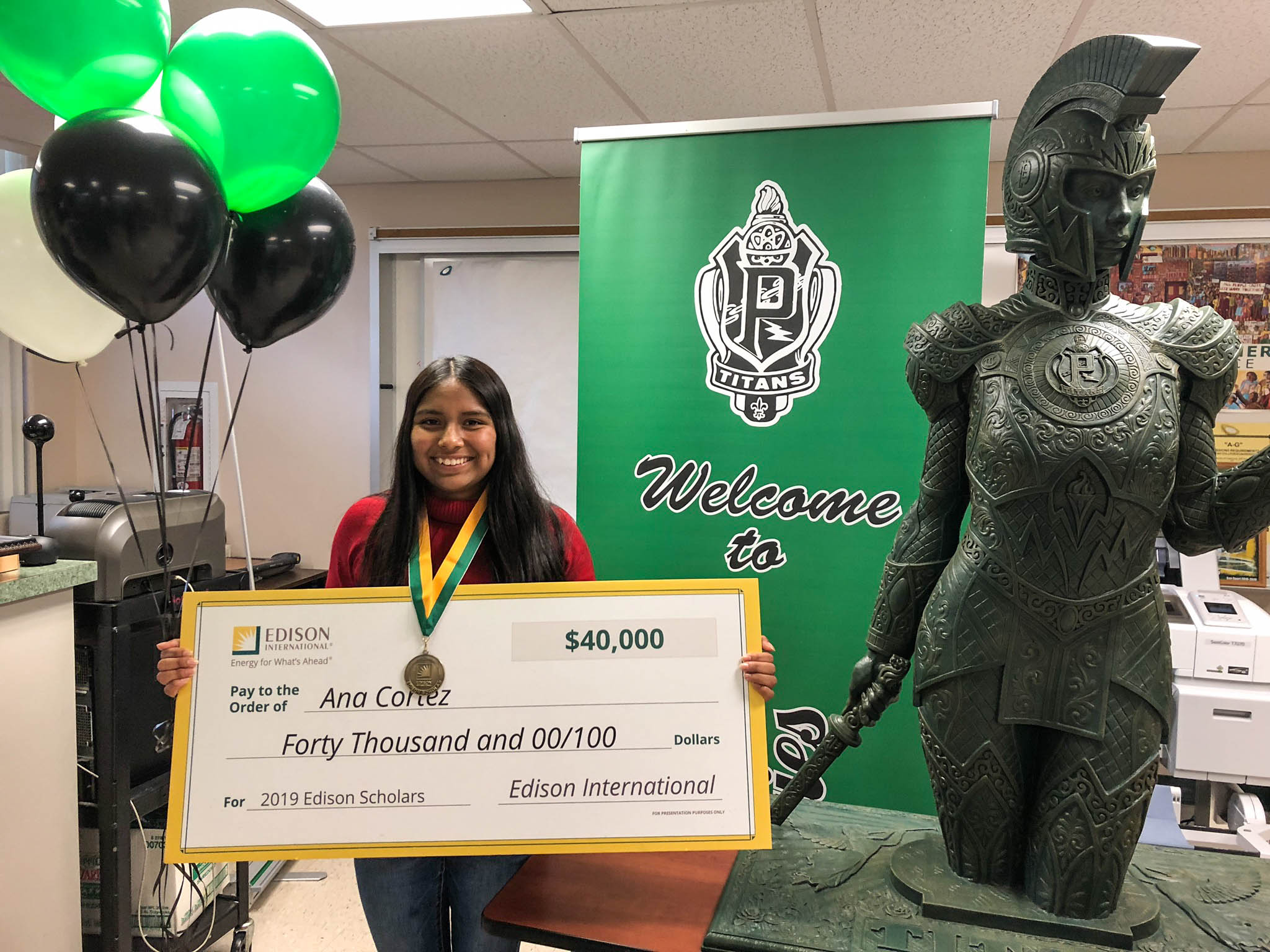 2019 Edison Scholar Ana Cortez at Pioneer High School