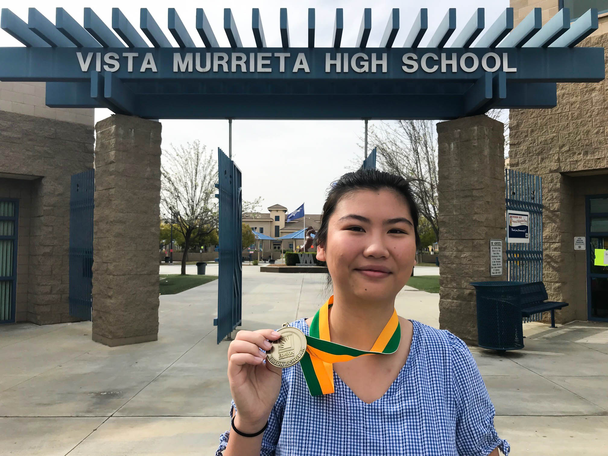 2019 Edison Scholar Carlie Lin at Vista Murrieta High School