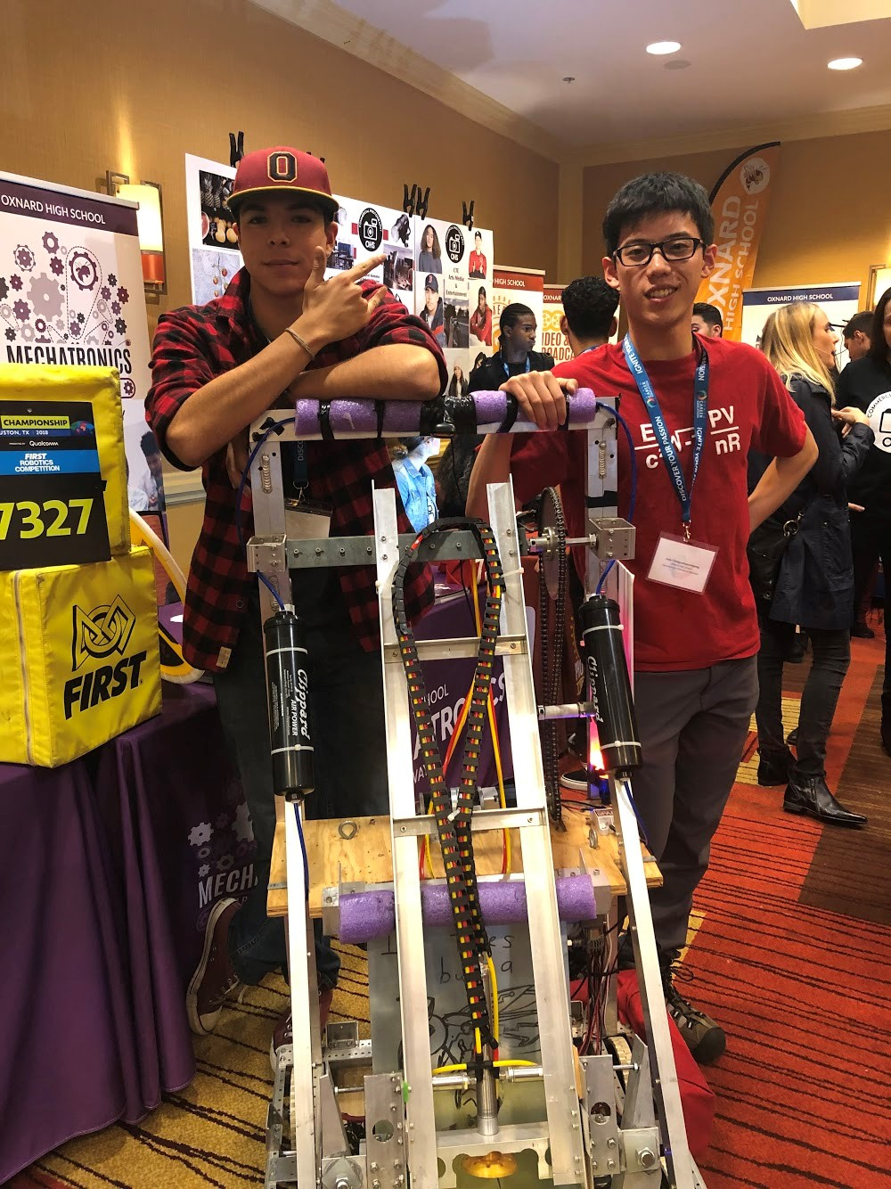 David Pulido, 2019 Edison Scholar, participates in a robotics competition.