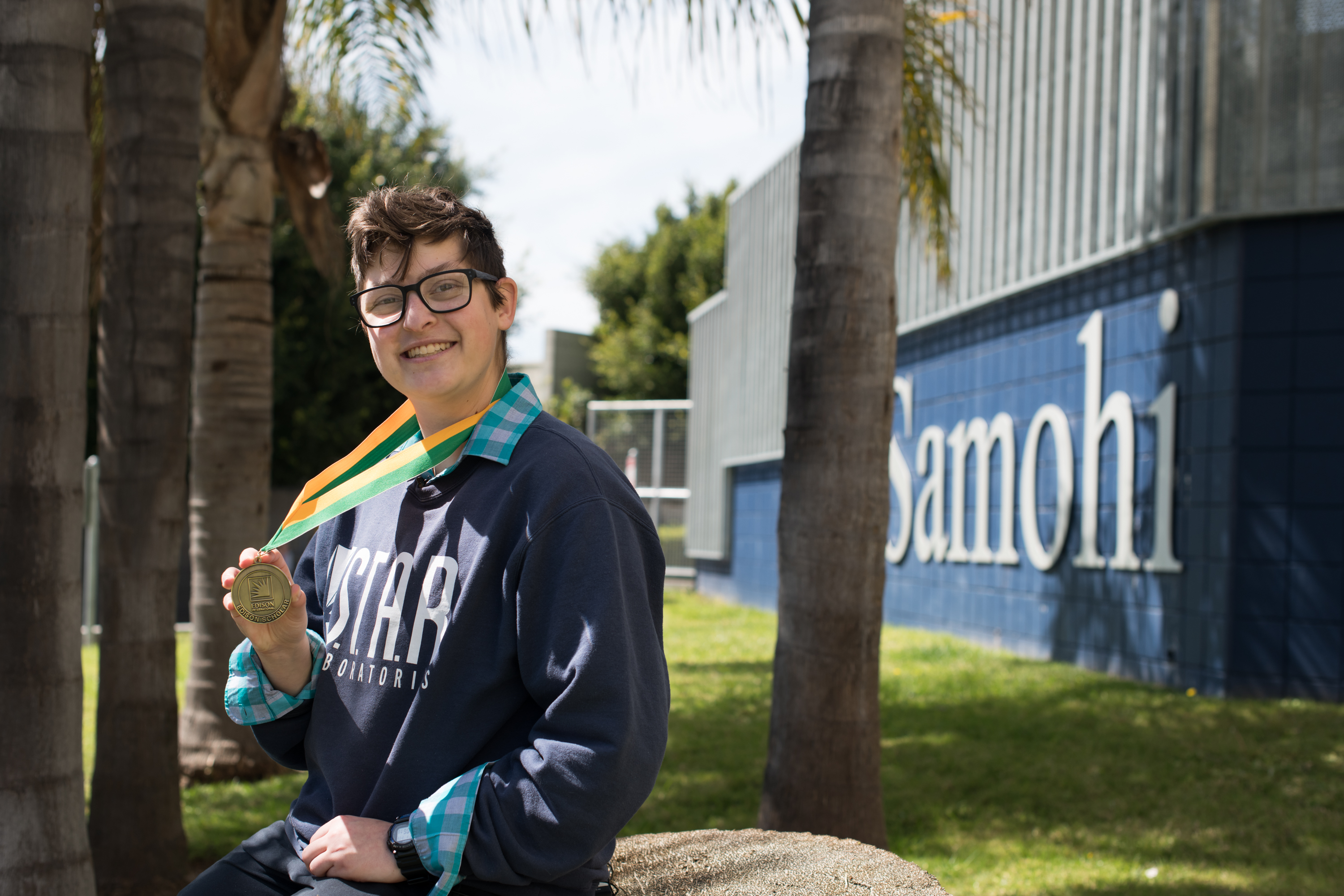 2019 Edison Scholar Katie Richards at Santa Monica High School
