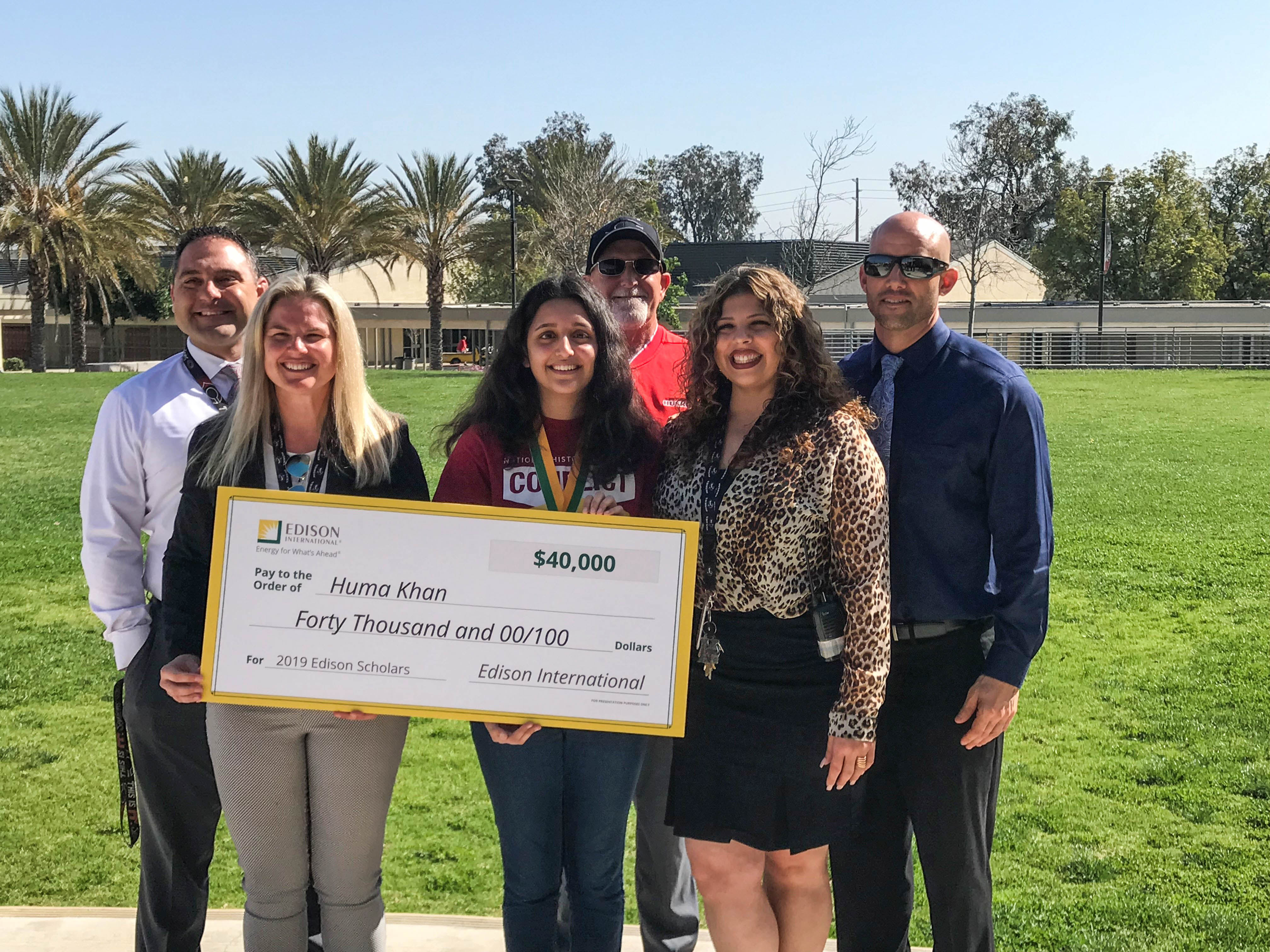 2019 Edison Scholar Huma Khan at Centennial High School