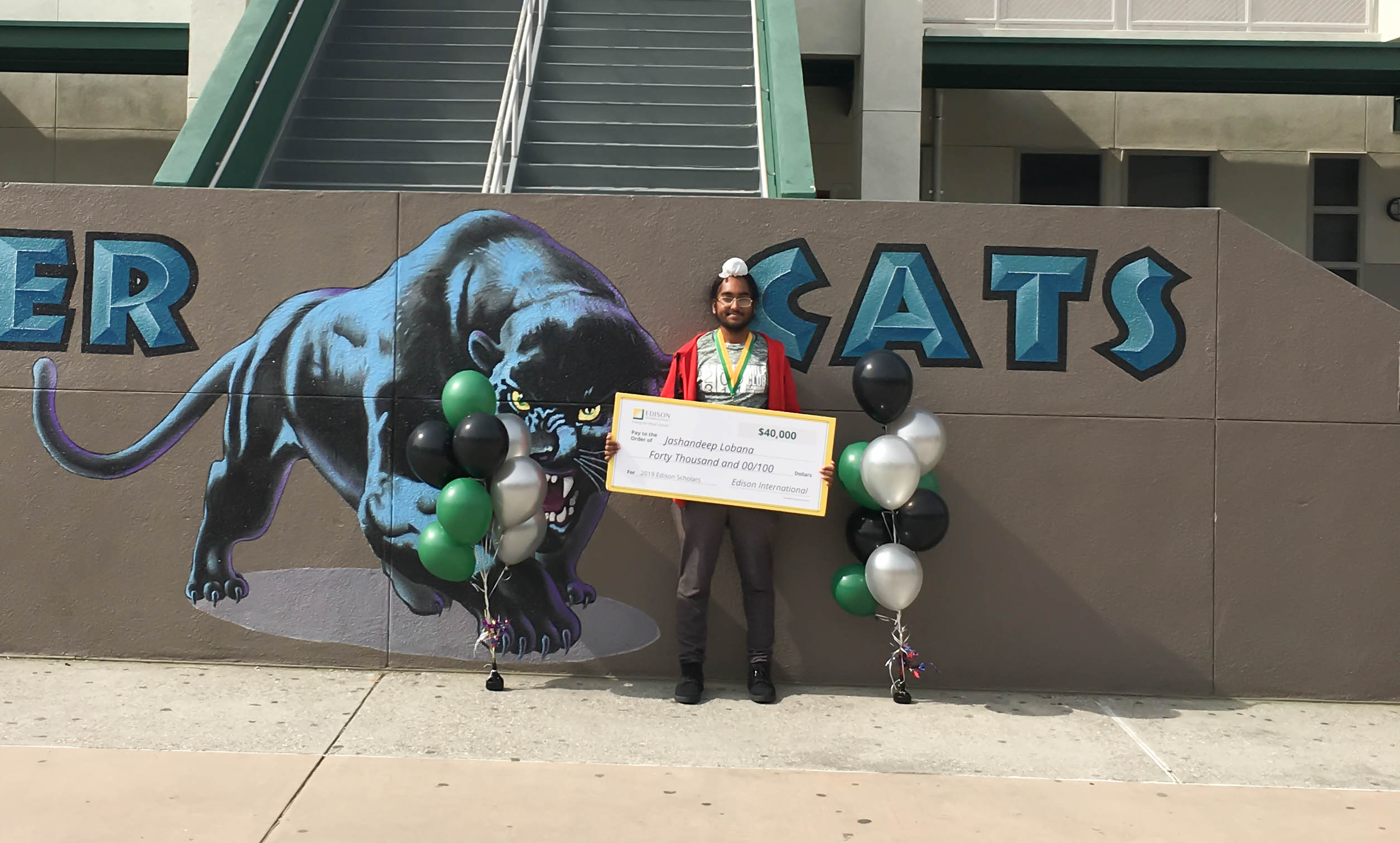 2019 Edison Scholar Jashandeep Lobana at Henry J. Kaiser High School