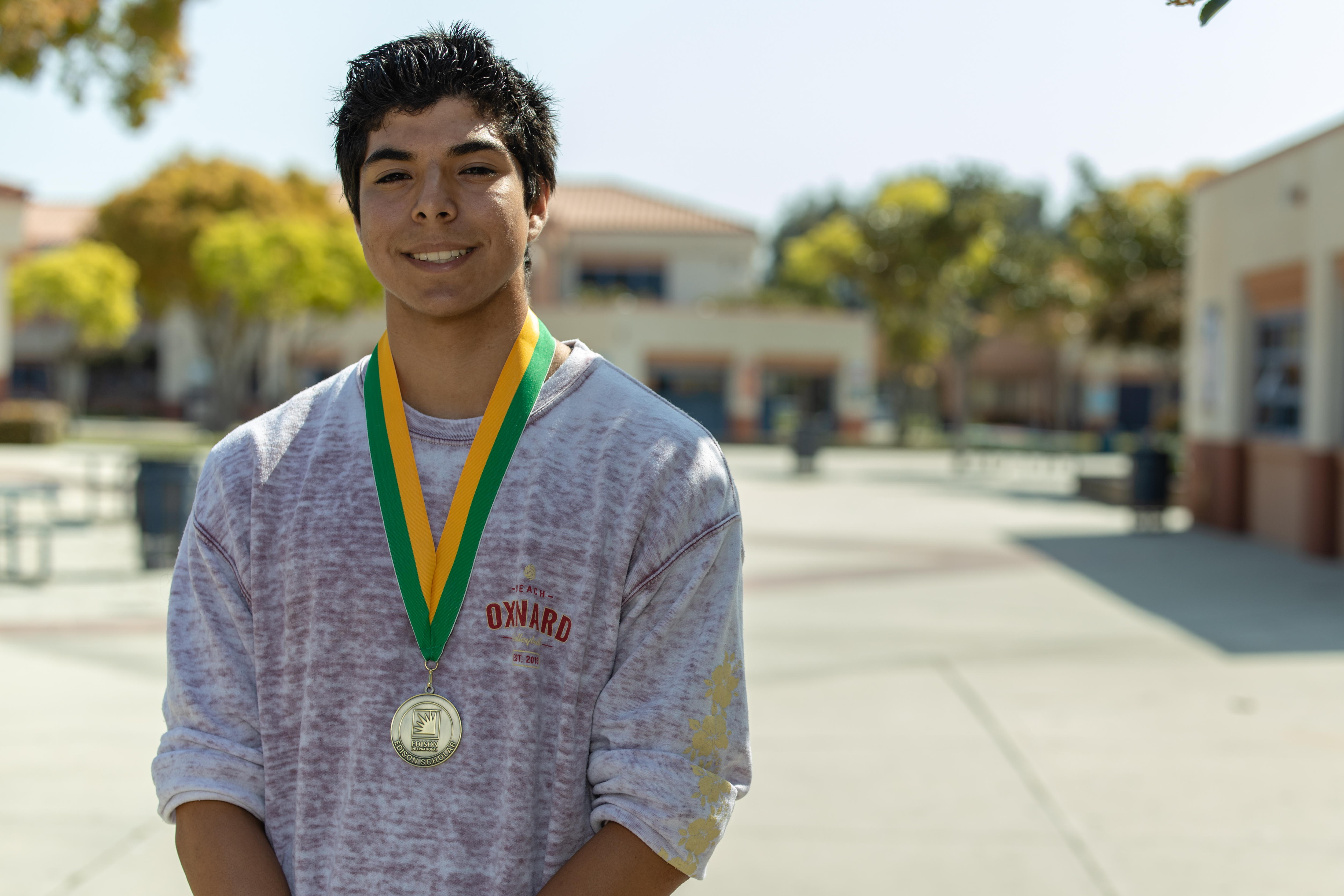2019 Edison Scholar David Pulido at Oxnard High School