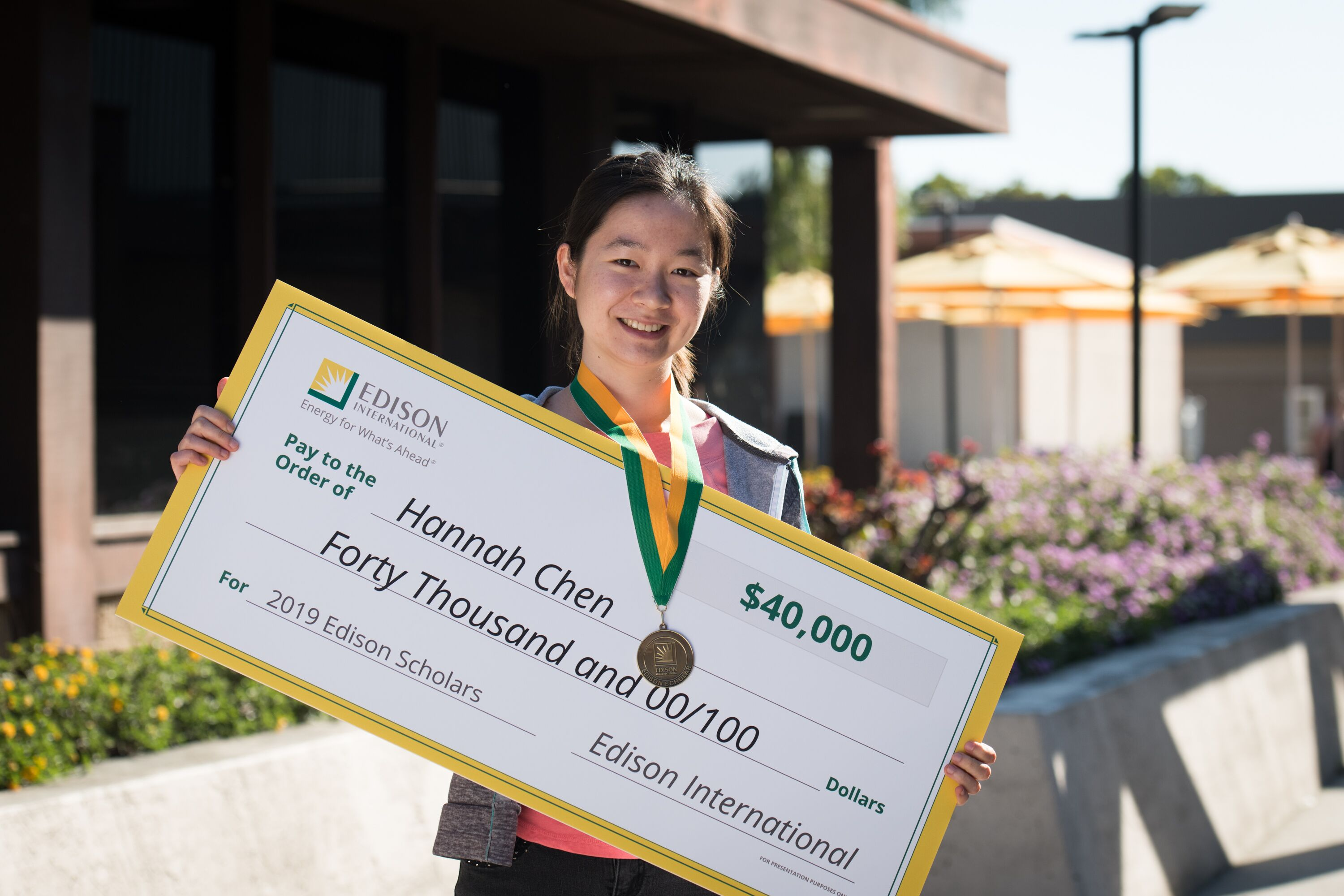 Edison Scholars scholarship winner Hannah Chen want to study computer science at Cal Tech.