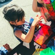 A lot of exhibits at the City of STEM Festival gave children a hands-on experience.