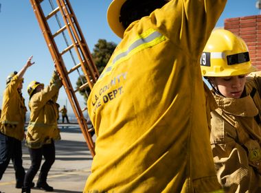 Female Hopefuls Train to Become Firefighters One Day