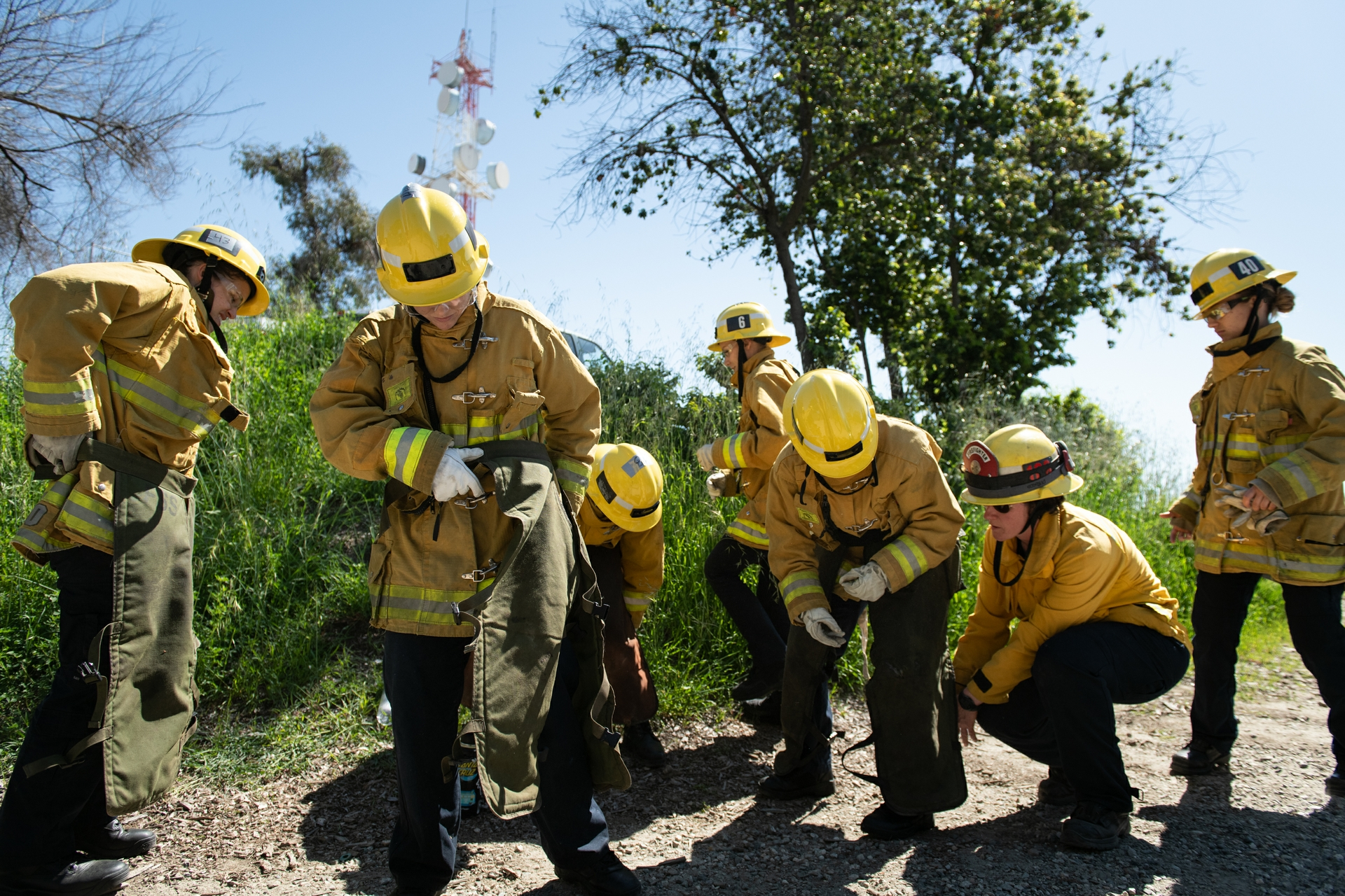 Participants take part in the LACoFD's Women's Fire Prep Academy.
