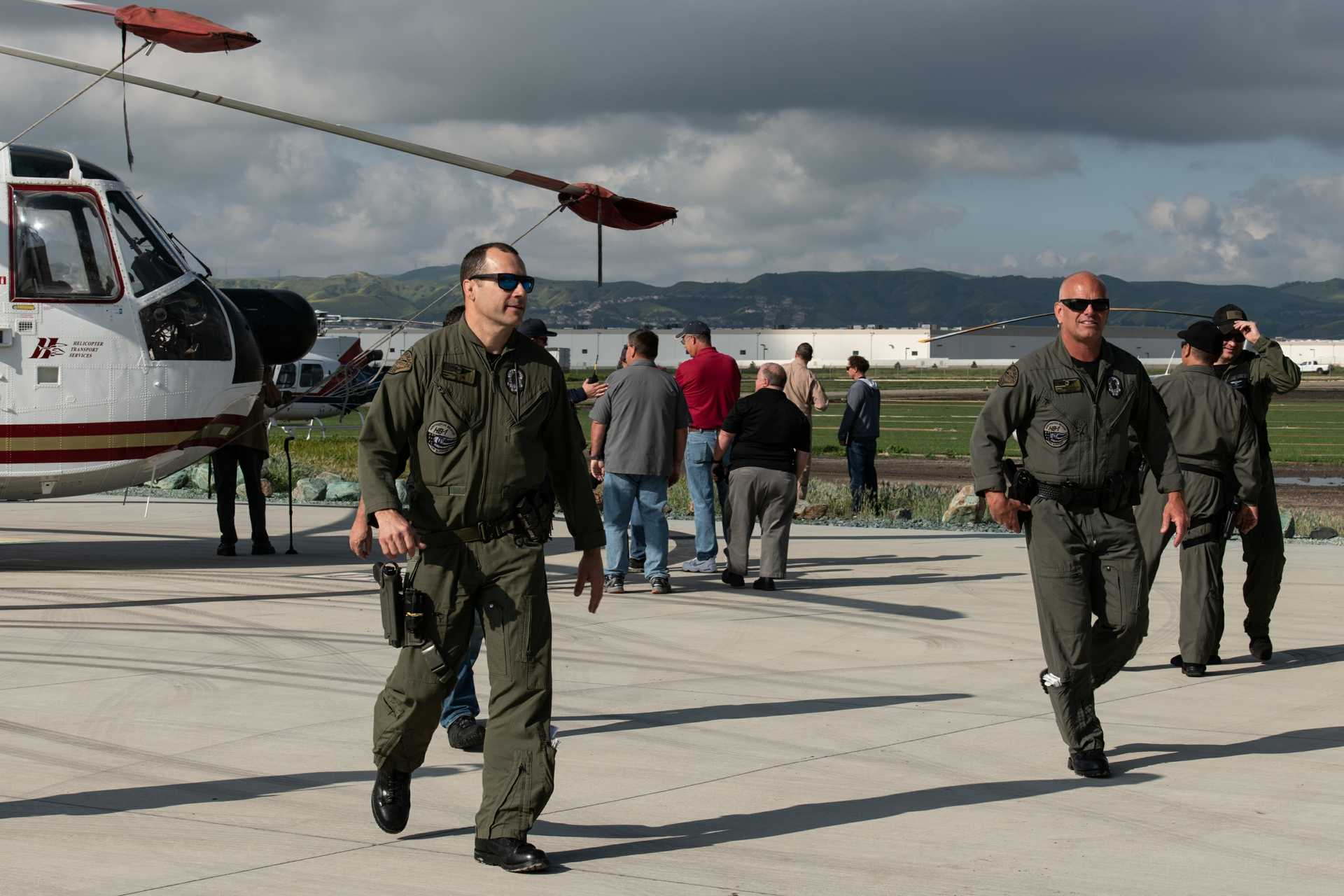 First responders arrive at Chino Airport for the wire avoidance safety semin