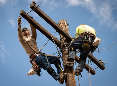 Linemen Keep the Power On