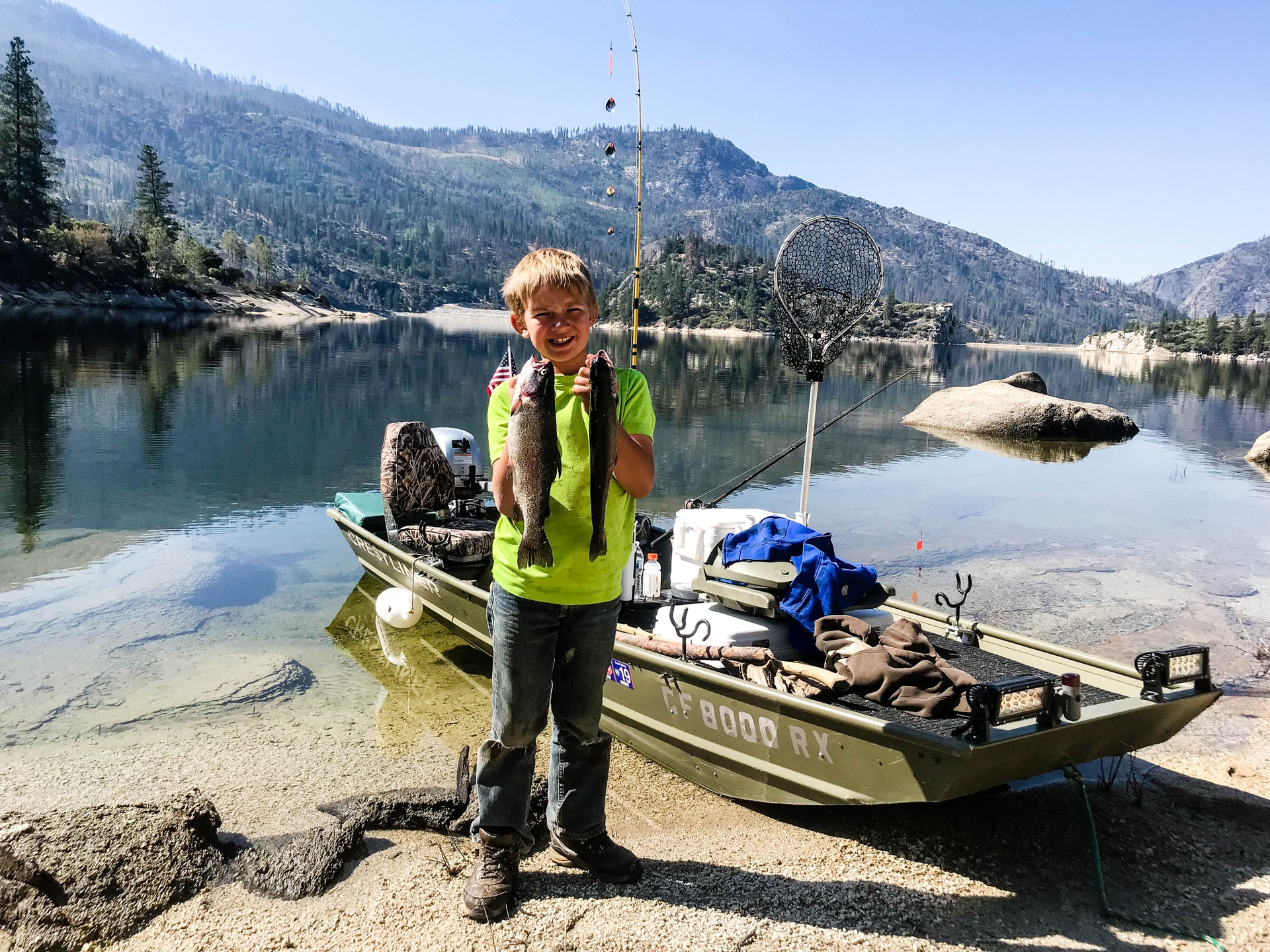 Jamie Snyder had a good day fishing at Mammoth Pool Reservoir last year.