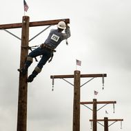 Linemen from various utilities competed at this year's SCE Lineman's Rodeo.