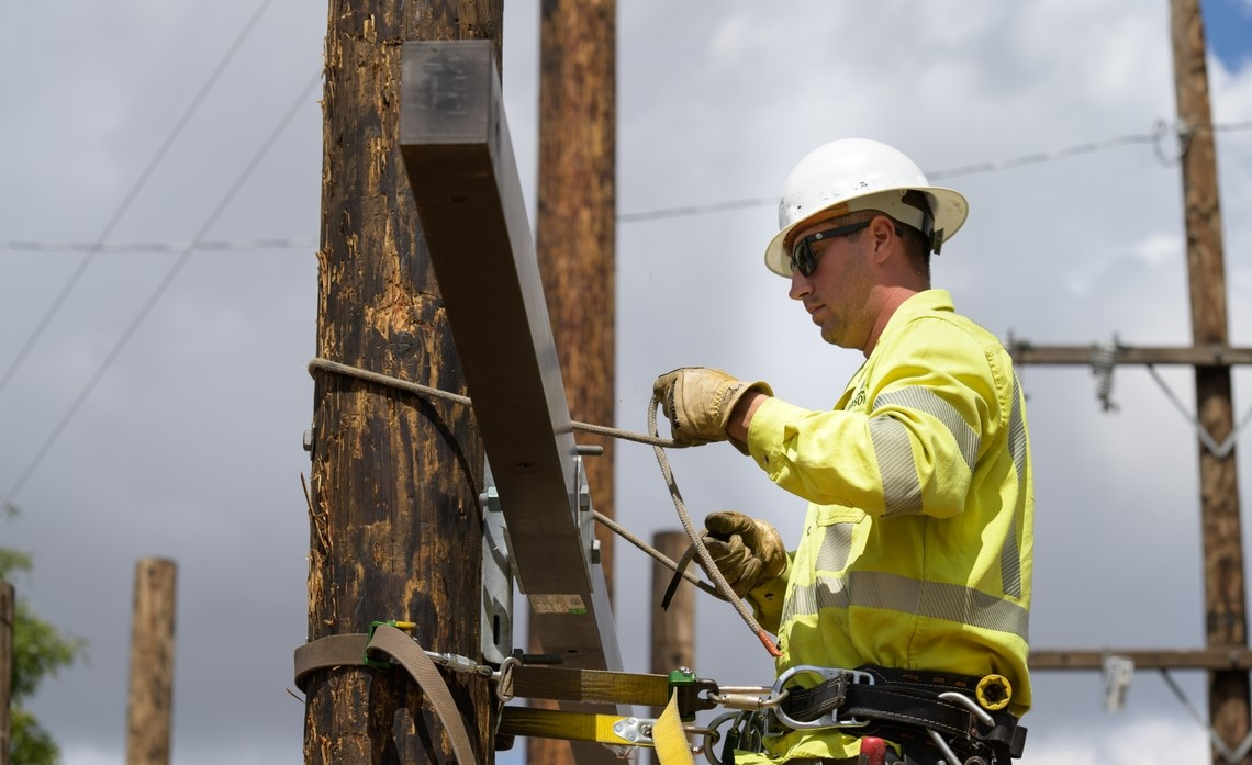 Training to become a journeyman lineman can take more than 7,000 hours.
