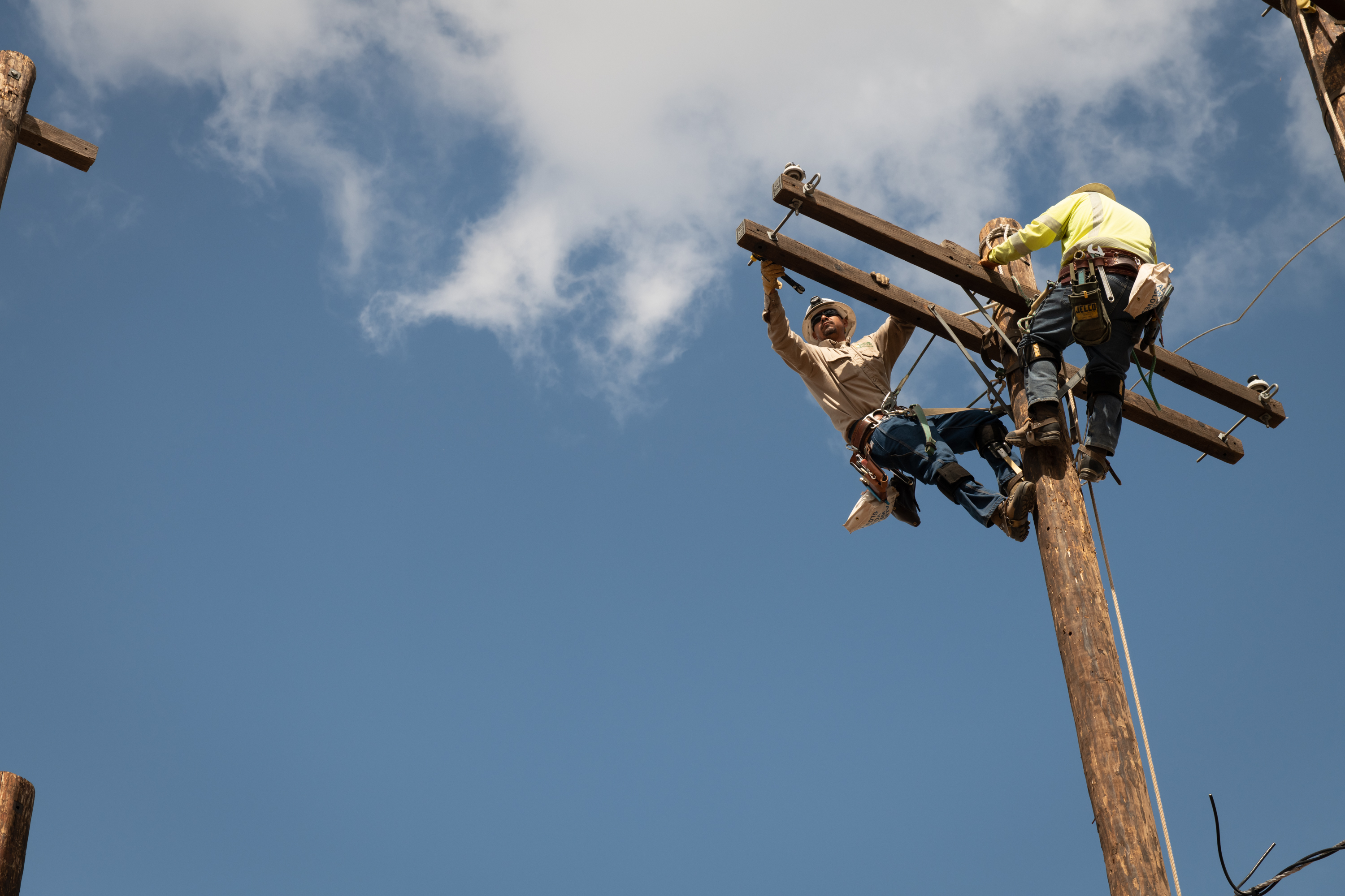 SCE linemen spend 1.25% of their life in the air every year.
