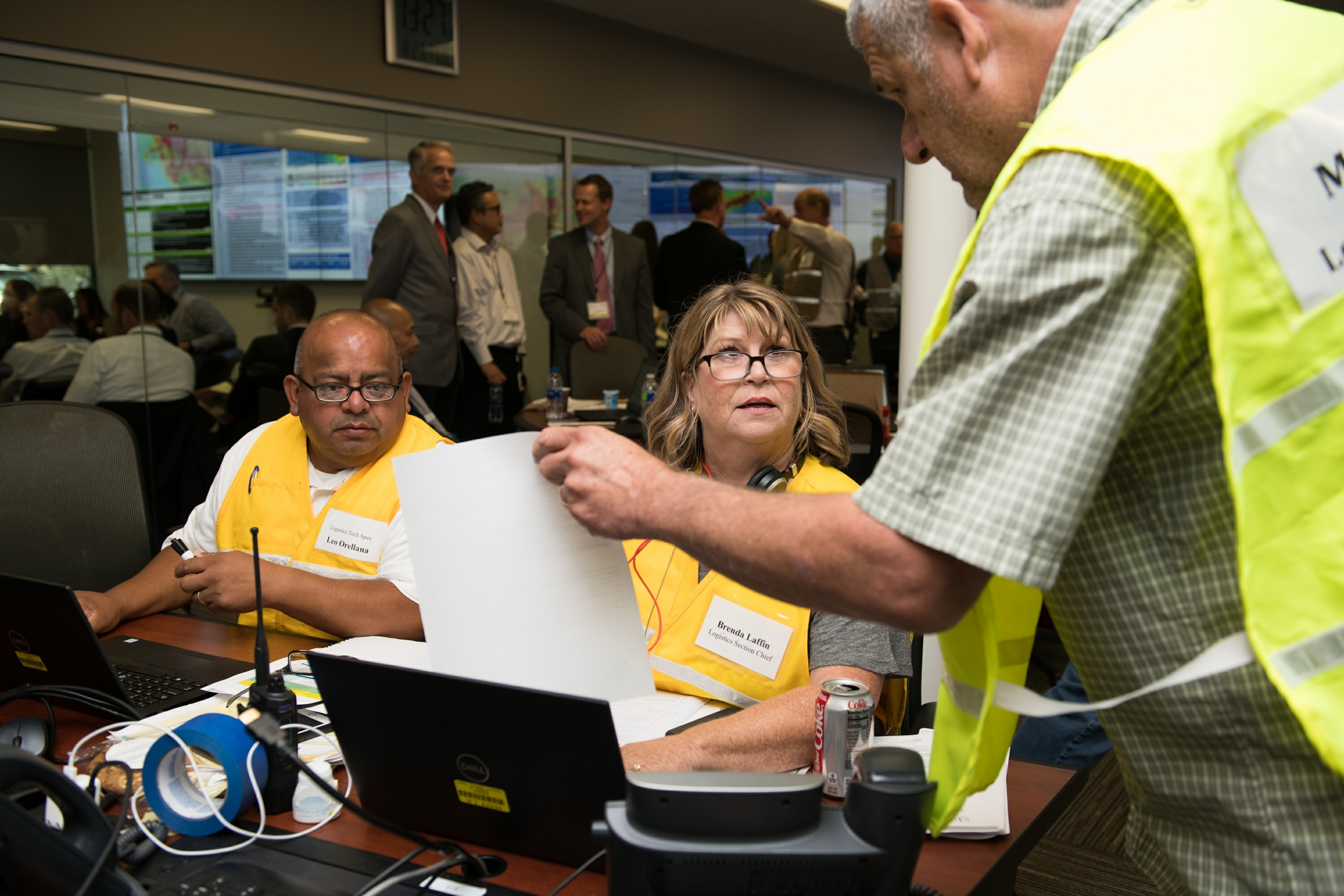 SCE teams work together to respond to simulated scenarios that could impact the company following a devastating 7.8 earthquake.