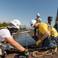 New state program helps SCE homeowners in environmentally impacted communities install rooftop solar systems. The nonprofit Grid Alternatives is the program administrator.