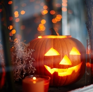 Jack-o'-lanterns should only be illuminated with flameless candles, or even glow sticks, since burning candles are a significant fire risk.