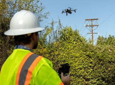 Drones Join Helicopters Inspecting Power Lines in High Fire Risk Areas