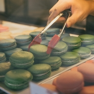 7 Leaves Cafe also offers hand-crafted macarons.