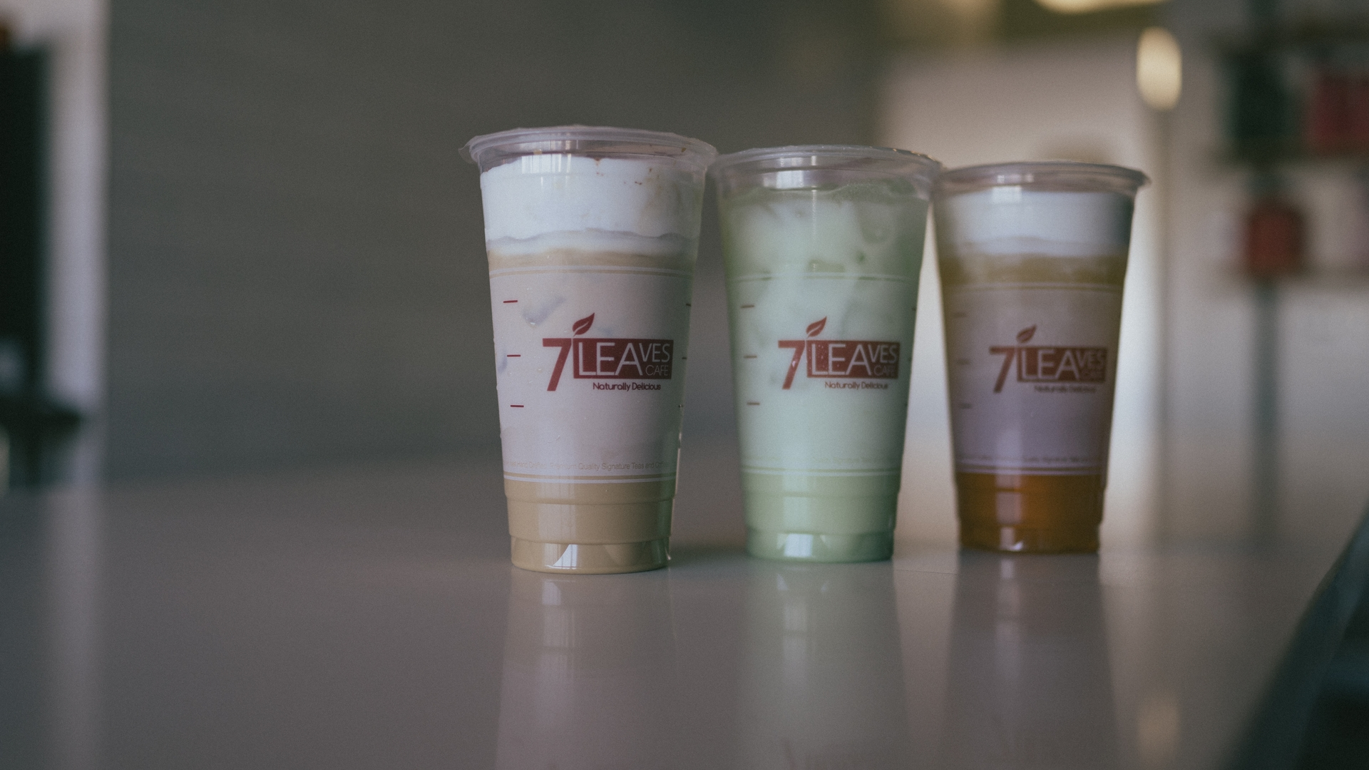 7 Leaves Cafe crafts each of its drinks from scratch, including its popular iced coffee and milk teas.