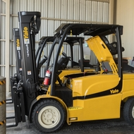 SCE's new electric forklifts run quieter and cleaner with zero emissions.