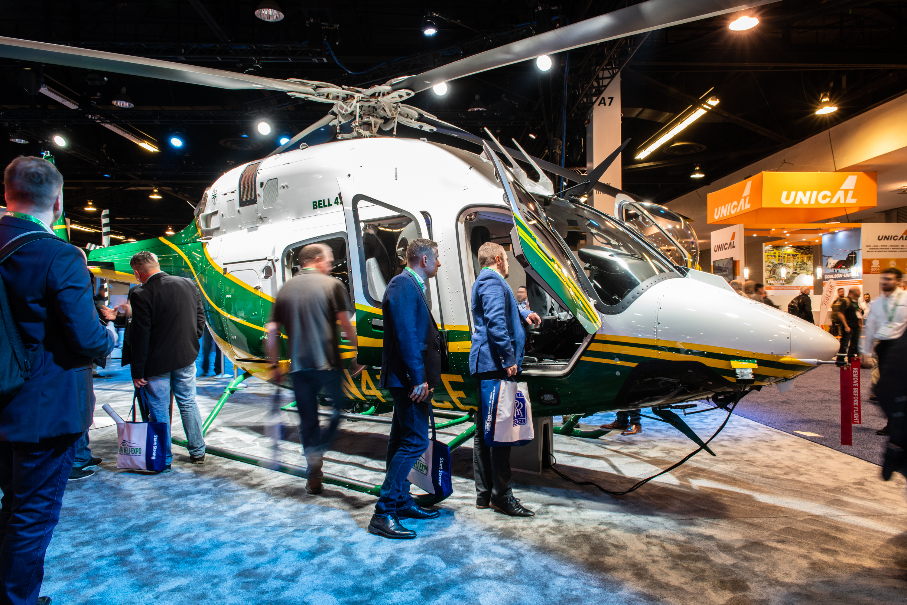 SCE's Bell 429 helicopter was recently showcased at HAI HELI-EXPO in Anaheim.