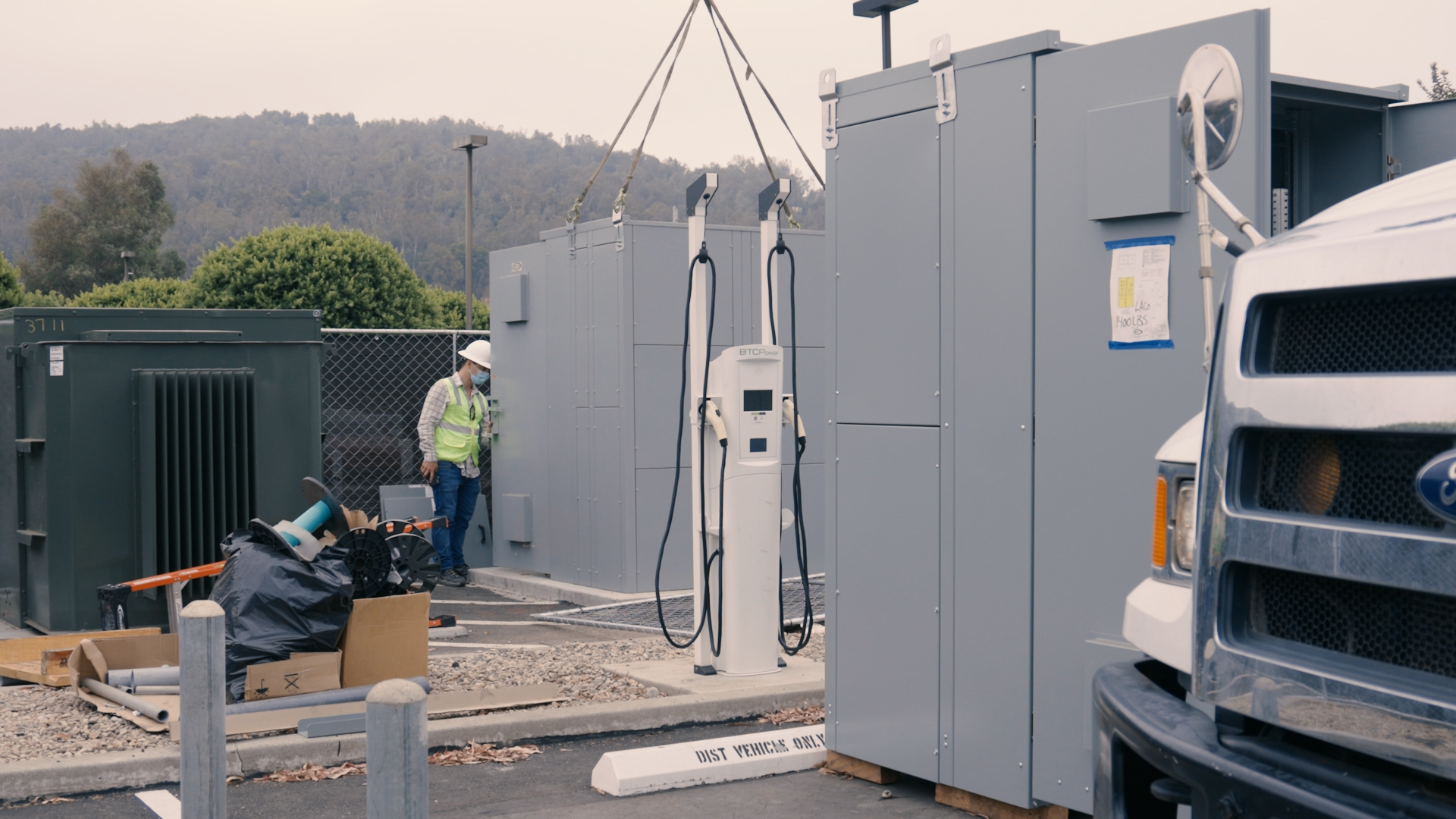 SCE's Charge Ready Program helped LACSD install electrical infrastructure for 44 charge ports to support the EVs in its fleet, and provided rebates for charging stations.