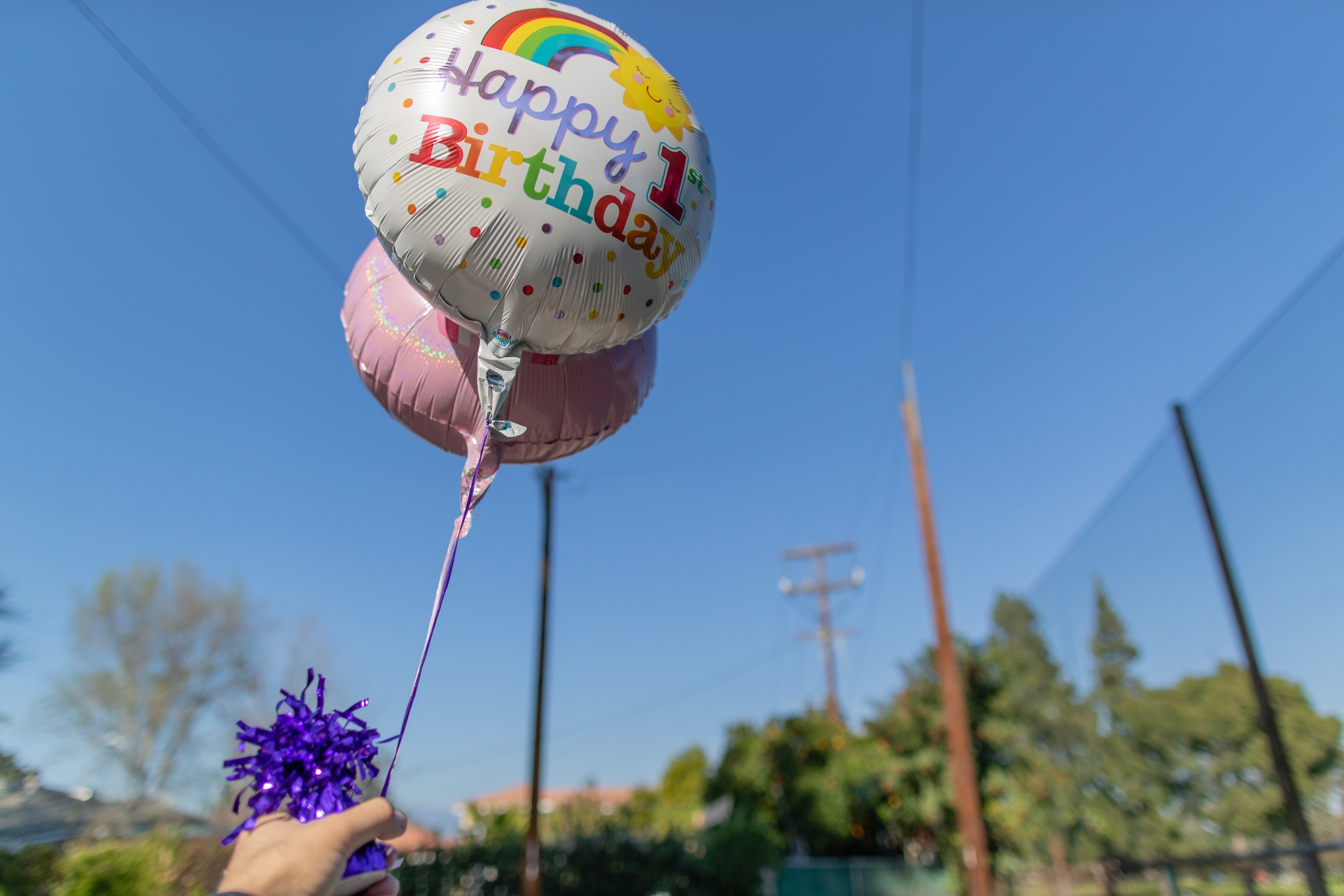 To prevent their release, metallic balloons should always be tied to a weight as required by a 1990 California law.