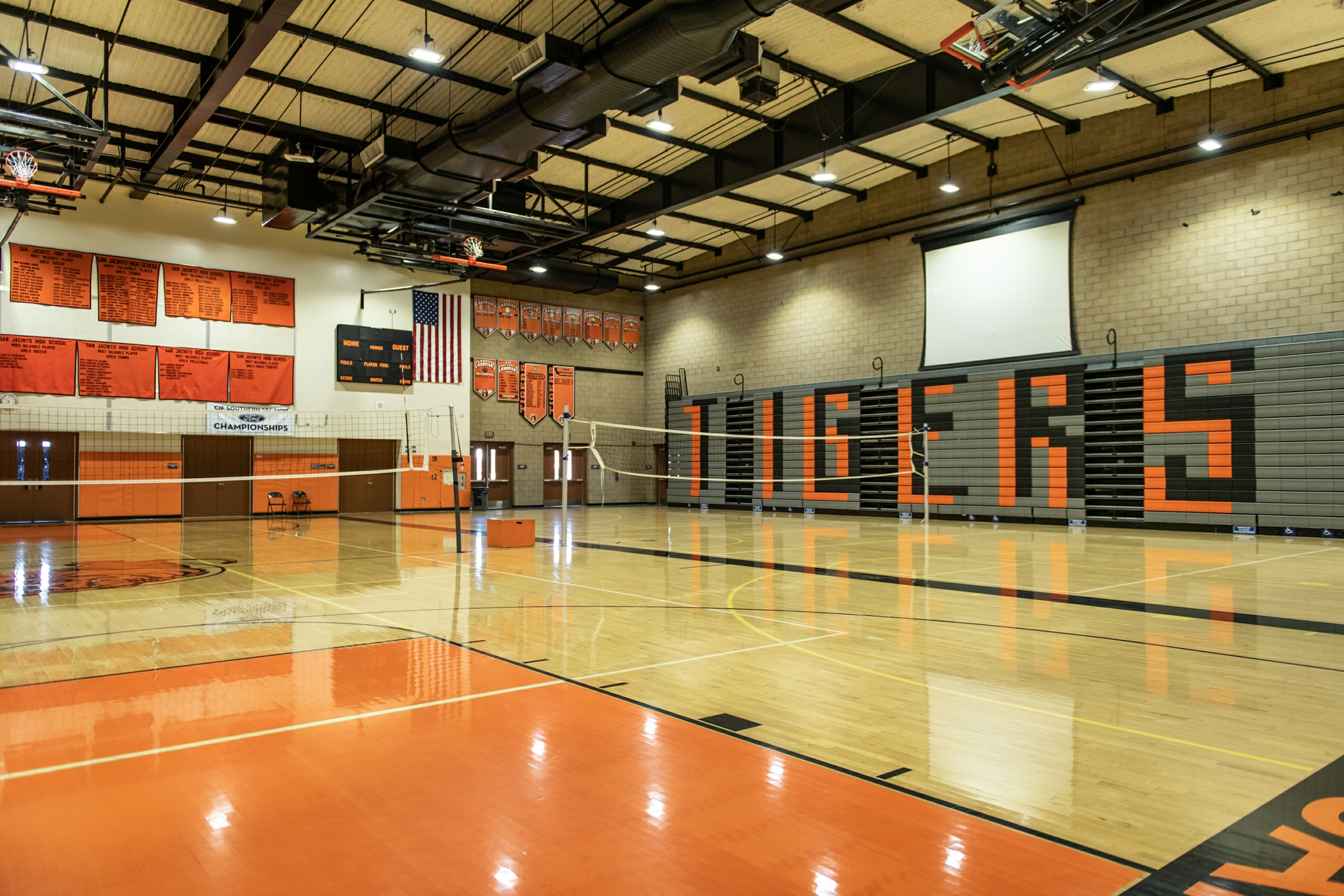 San Jacinto High School's gymnasium would open as a resiliency shelter for the community.