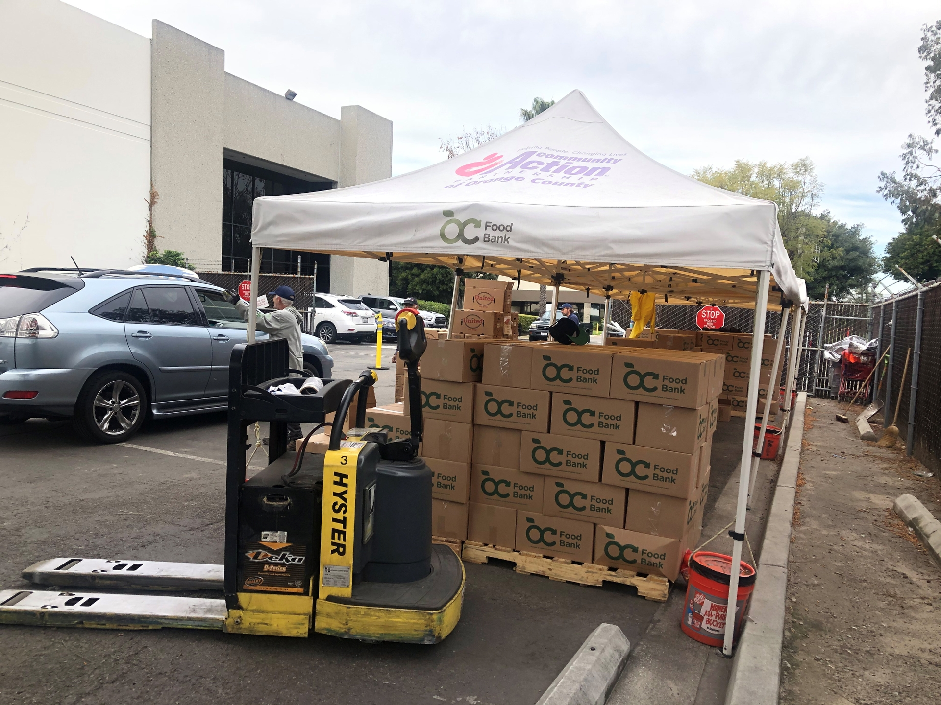 The OC Food Bank packs about 26,000 boxes of food each month.